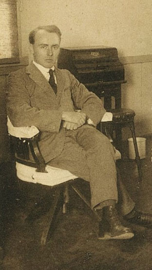 Hornby at Oita Higher Commercial School in 1926 ( In the collection of the author)