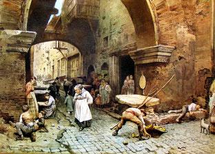 Ettore Roesler Franz - Il Portico d'Ottavia