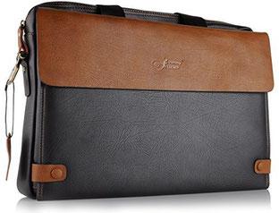 Eine allround 16 Zoll Notebooktasche aus Leder der Marke JammyLizard