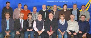 Kandidaten und Ersatzleute der BU/CWG (Foto:Lindmeier, HJW)