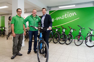 e-Bike Übergabe Oberbürgermeister Bochum, e-motion e-Bike Welt Bochum