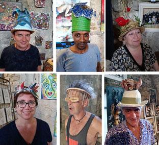 Quelques chapeaux joliment ouvragés