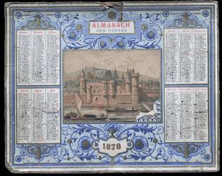 Almanach des Postes 1878.