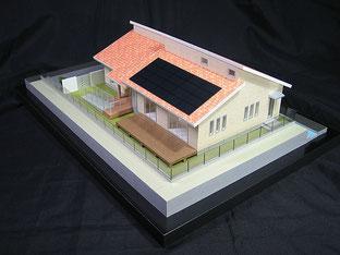 1/72スケール平屋の住宅模型