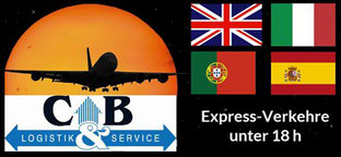 Bild CB Logistik & Service GmbH und Expressverkehre unter 18 h nach Großbritannien, Italien, Portugal, Spanien inklusive Inseln