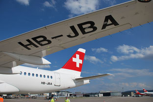 First Bombardier C100 out of a total order of 30   -  courtesy Swiss
