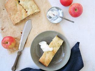 Oma's Apfelstrudel aus Mürbteig (Maultaschen)
