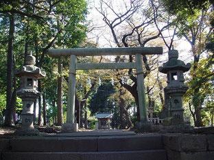 野川神明社の鳥居