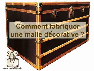 comment fabriquer une malle décorative coffre de rangement home made tuto gratuit