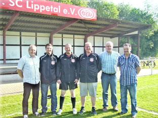 Auf dem Foto von links: Reinhard Bücker (Jugendleiter) Sebastian Bitter, Mario Naumann, Martin Stockhofe, Jürgen Sickau (Geschäftsführer Jugend) und Wolfi Alsleben (stellv. Jugendleiter).