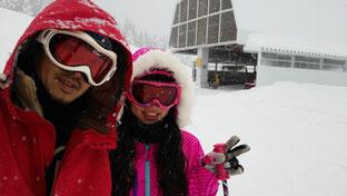 この日は多雪&上はホワイトアウト状態w