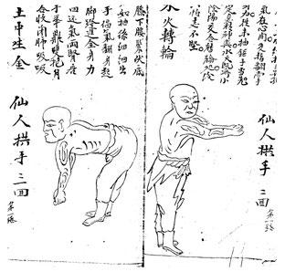 Qi Gong: Überlieferte Zeichnungen der Jing Wu Kung Fu Schule