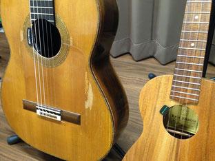 ウクレレ、ギターにピックアップを:機材が必要な環境でのライブはこれでバッチリ☆