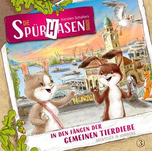 CD-Cover Die Spürhasen-Bande Folge 3 - In den Fängen der gemeinen Tierdiebe