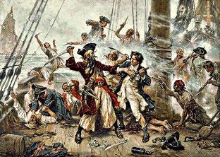 Imagen cuadro 'Captura del pirata' de Jean Leon Gerome. Por Wikimedia Commons