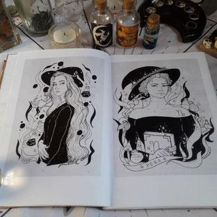 Vesta y Hera por la artista Rochi Pardo