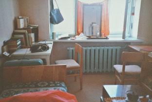留学生寮の部屋(1984年9月ウランバートル)