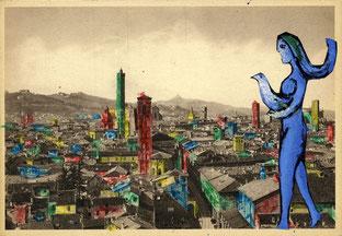 Elle vendait des cartes postales et puis des crayons. Depuis elle colore le monde.