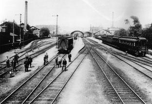 Gleisanlagen des Bahnhofs um 1910. Städtisches Museum Göttingen