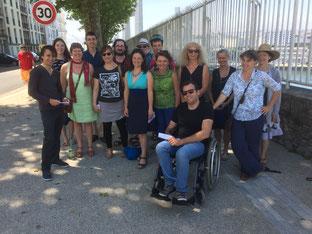 Etudiants des CRR de Rennes et Brest ayant participé aux Chansons du téléphérique à l'occasion de la fête de la musique(21 juin 2017)