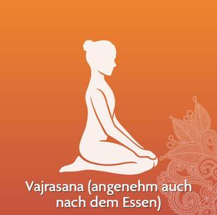 Yoga Übung - Vajrasana (angenehm auch nach dem Essen) - Quelle: www.yogitea.com