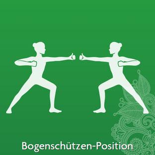 Yoga Übung Bogenschützen-Position - Yoga ist Vereinigung und Einheit