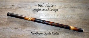 Irish Flute in D - Night Wind Design - from Northern Lights Flutes