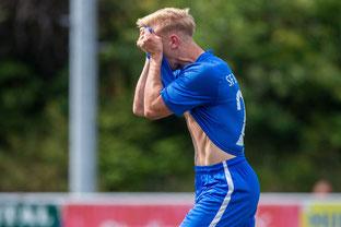 Hier ärgert sich Aleks Bojkovski noch über eine vergebene Möglichkeit, doch nur wenig später erzielte er den Siegtreffer (Foto: Deutzmann)