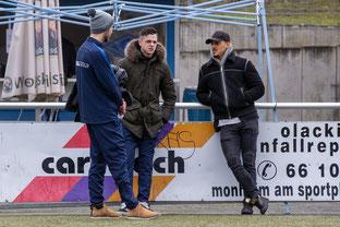 Viele Ausfälle: Hier stehen Jannik Hinsenkamp, Dominik Cikac und Roberto Guirino zusammen. (Foto: Deutzmann)