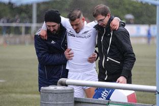 Im Spiel gegen TuRU Düsseldorf zog sich Roberto Guirino einen Muskelbündelriss zu (Foto: Deutzmann)