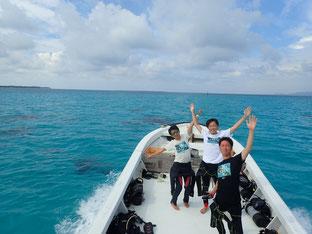 石垣島でのんびりダイビング「☆祝OWダイバー☆」ヒートハートクラブ