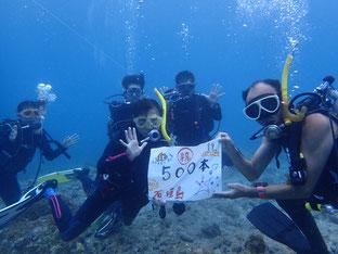 石垣島でのんびりダイビング「㊗500ダイブ」ヒートハートクラブ