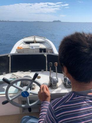 石垣島でのんびりダイビング「船を出すぞ~」ヒートハートクラブ