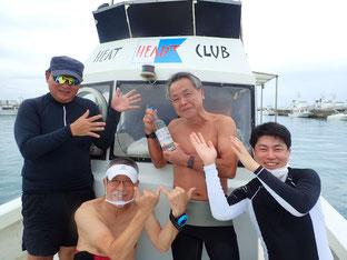 石垣島でのんびりダイビング「先輩方と男子会」ヒートハートクラブ