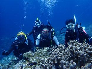 石垣島でブランクダイビング「ミッション達成」ヒートハートクラブ