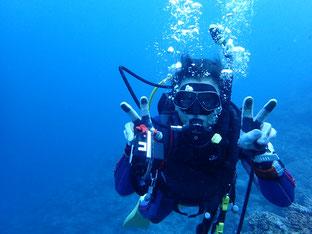 石垣島で初心者ダイビング「100ダイブ記念」ヒートハートクラブ