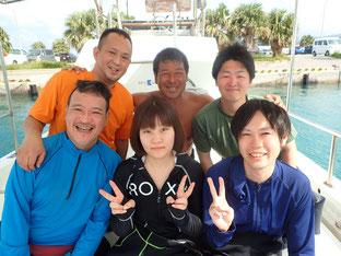 石垣島でのんびりダイビング「晴れ!北風強!」ヒートハートクラブ