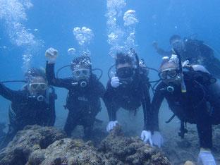 石垣島でのんびりダイビング「高校時代の」ヒートハートクラブ