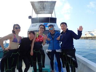 石垣島でのんびりダイビング「親孝行娘」ヒートハートクラブ