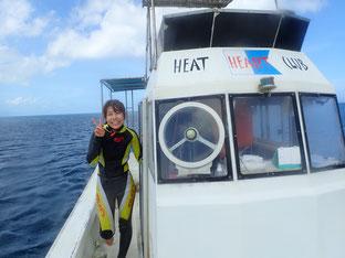 石垣島でブランクダイビング「台風5号」ヒートハートクラブ