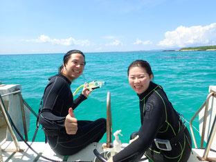 石垣島でのんびり体験ダイビング「潜れてよかった~」ヒートハートクラブ