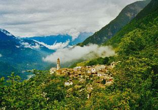Blick auf Soglio - der Schwelle zum Paradies