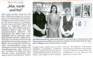 """Pressebericht Südkurier """"Klar, nackt und frei"""""""