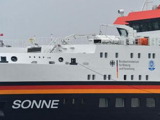 Die deutsche Meeresforschung bekommt ein neues Flaggschiff: die «Sonne». Foto: Carmen Jaspersen