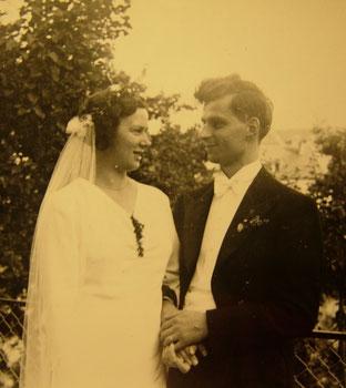 Abb.3: Das Hochzeitspaar am 6. August 1936.