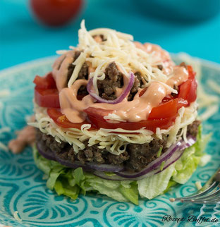 Low Carb to go: Der Cheeseburger Salat