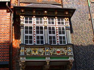 der bekannteste Erker in Lübeck