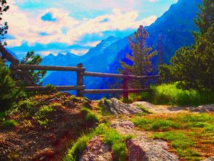 unberührte Berg-Natur