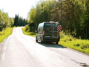 einsame Strasse durch Tramokdalen