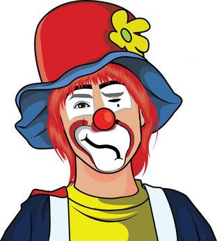 clown tränen in den augen
